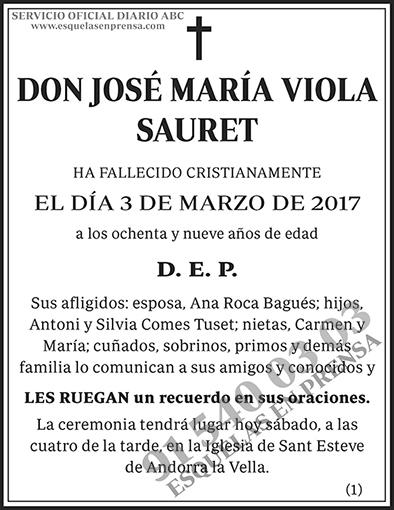 José María Viola Sauret